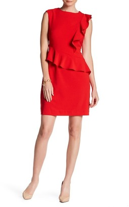 ECI Cap Sleeve Ruffle Sheath Dress $118 thestylecure.com