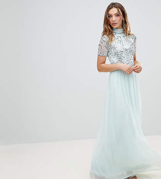 Frock and Frill Premium Embellished Top Maxi Dress