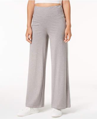 Calvin Klein Micro-Stripe Wide-Leg Pants