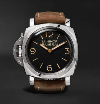 Panerai Officine Luminor 1950 Left-Handed 3 Days Acciaio 47mm Stainless Steel And Leather Watch