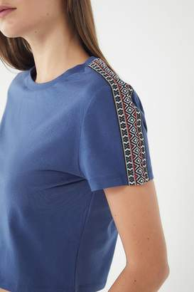 Urban Outfitters Merton Cropped Short Sleeve Tee