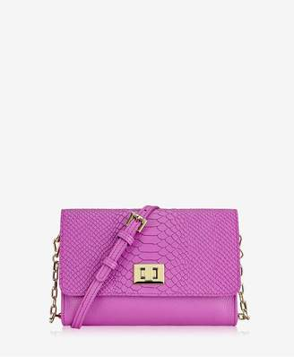 GiGi New York Catherine Crossbody In Orchid Embossed Python
