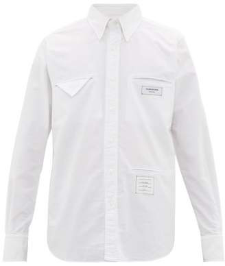 Thom Browne Inside Out Cotton Oxford Shirt - Mens - White