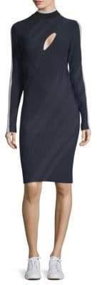 Versace Ribbed Sheath Dress