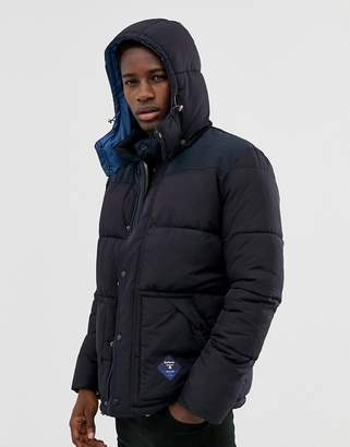 Barbour Beacon Mill hooded padded jacket in navy