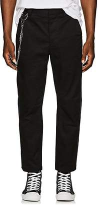 Chapter MEN'S CHAIN-EMBELLISHED STRIPED COTTON TROUSERS - BLACK SIZE 34