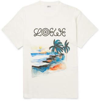 Loewe Eye nature Printed Cotton-jersey T-shirt - White