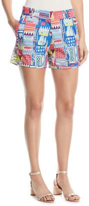 Le Sirenuse Afrika Flat-Front Shorts
