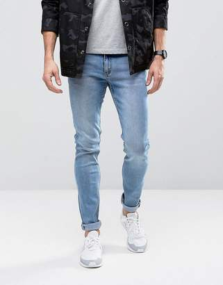 Cheap Monday Skinny Jeans in Stonewash Blue