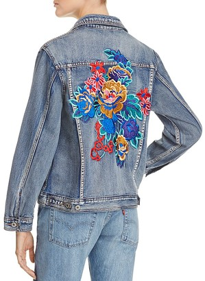 Sunset & Spring Floral Explosion Jean Jacket - 100% Exclusive $128 thestylecure.com