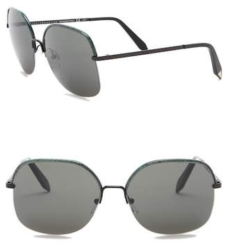 Victoria Beckham 60mm Modified Rectangular Sunglasses