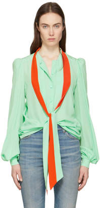 Givenchy Green and Orange Tie Shirt