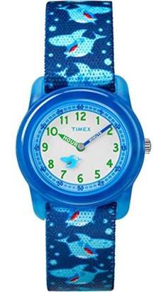 Timex Boys Time Machines Blue/Monsters Watch, Elastic Fabric Strap