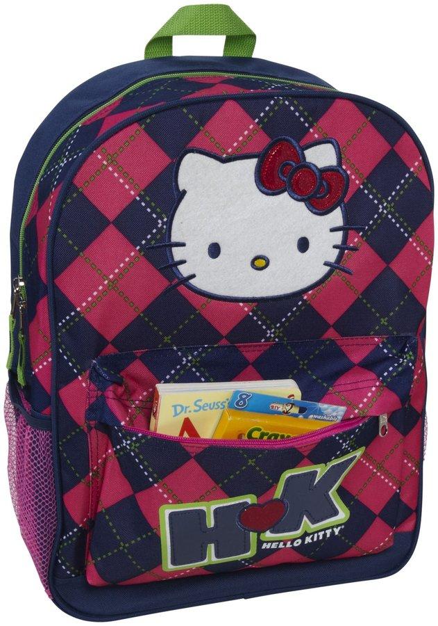 Hello Kitty FAB Starpoint Backpack Argyle