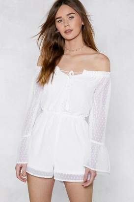 Nasty Gal Drop Anchor Off-the-Shoulder Romper