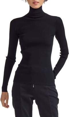 Maje Miloa Skinny Ribbed Turtleneck