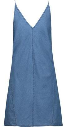 J Brand Maryanne Cotton And Silk-Blend Chambray Mini Dress