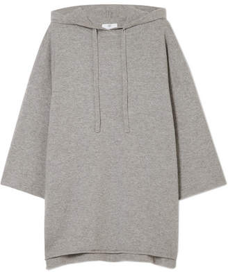Allude Hooded Cashmere Sweater - Gray