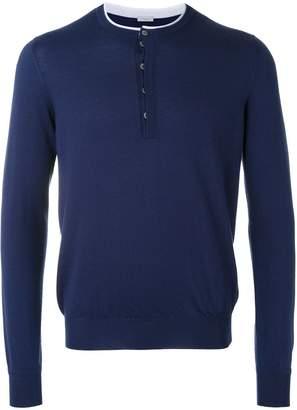 Malo contrast trim sweater