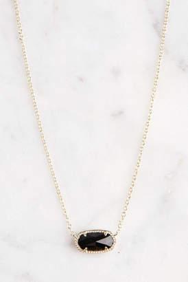 Kendra Scott Elisa Black Opaque Glass Integrated Necklace Black