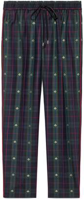 Gucci Check bees wool ankle pant