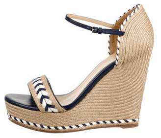 Gucci Braided Platform Sandals Navy Braided Platform Sandals