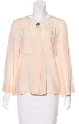 Chanel Quilted Silk Blouse