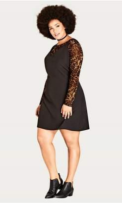 City Chic Citychic 90s Leopard Dress