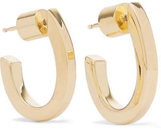 Jennifer Fisher Square Huggie Gold-plated Hoop Earrings