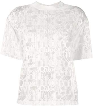 Chloé monogram lace top