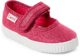 Cienta Toddler/Kids Girls) Fuchsia Sparkle Ean Mary Jane Sneakers