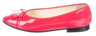 Chanel Patent Leather CC Flats