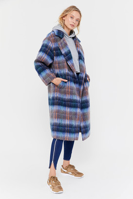 Urban Outfitters Oversized Plaid Wool Overcoat