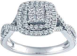 MODERN BRIDE 5/8 CT. T.W. 14K White Gold Diamond Engagement Ring