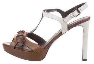 Belstaff Leather Ankle-Strap Sandals