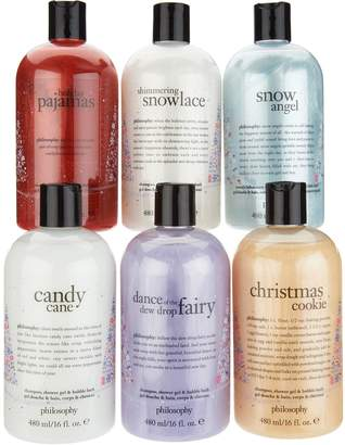 philosophy holiday edition 6-piece shower gel set