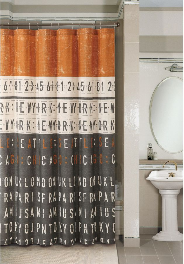 Bed Bath & Beyond Rush Hour 72-Inch x 72-Inch Shower Curtain