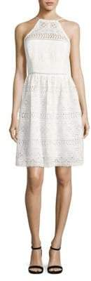 Trina Turk Picnic Lace Halter Dress