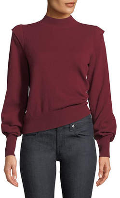 Joie Atilla Bishop-Sleeve Wool-Cashmere Sweater
