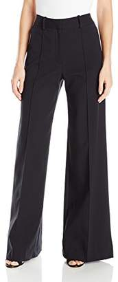 Milly Women's Hayden Wide Leg Pintuck Trousers