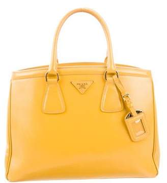 020139297d0d ... where can i buy pre owned at therealreal prada saffiano vernice parabole  tote 155de 55f5f official prada x27parabolex27 yellow saffiano leather ...