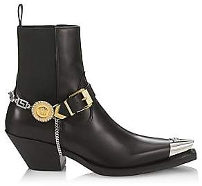 Versace Women's Embellished Western Leather Boots