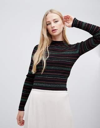 Gestuz Multa glitter stripe pullover