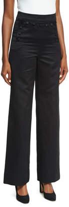 Co Sateen High-Waist Wide-Leg Sailor Pants