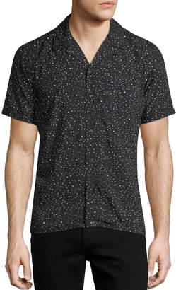 Neiman Marcus Confetti Short-Sleeve Sport Shirt