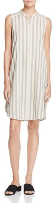 Eileen Fisher Mandarin Collar Stripe Shirt Dress $278 thestylecure.com