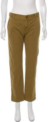 Current/Elliott Mid-Rise Straight Pants