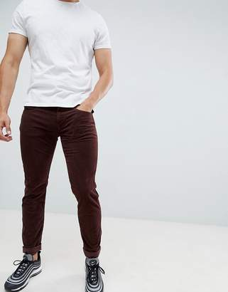 Replay Anbass slim stretch corduroy jeans in burgundy