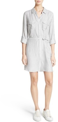 Women's Soft Joie Wila B Belted Stripe Shirtdress $198 thestylecure.com