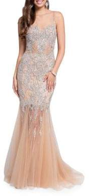 Terani Couture Glamour by Embellished Mermaid Gown